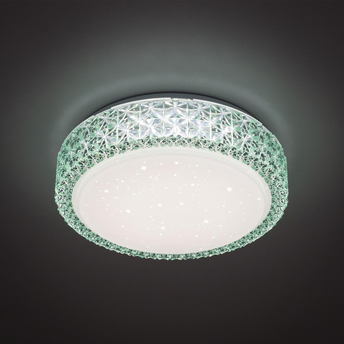 CITILUX CL705013 Потолочный светильник КРИСТАЛИНО 18x1W LED 3000K зеленый