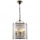 Arte Lamp A8286SP-3AB Подвес BRUNO 3x60W Е14 античная бронза / прозрачный