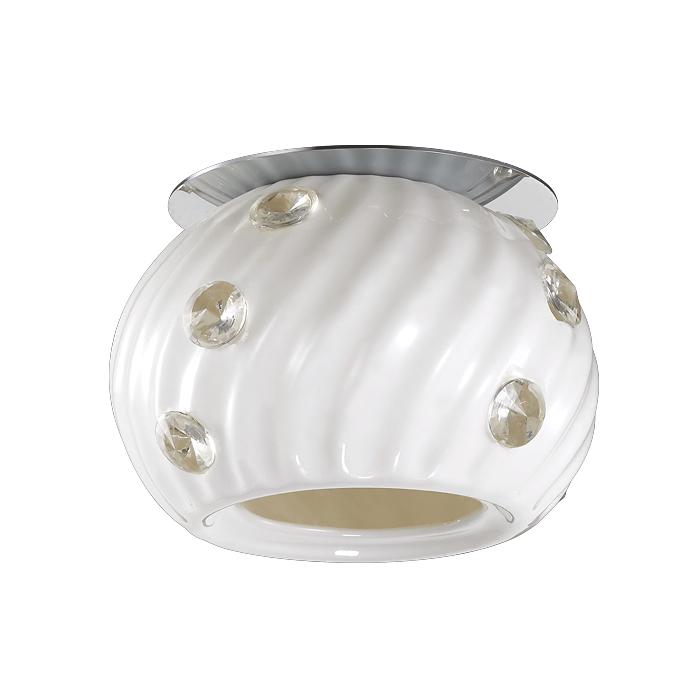 NOVOTECH 370157 Встраиваемый светильник неповоротный 1x50W G9 IP20 хром / белый
