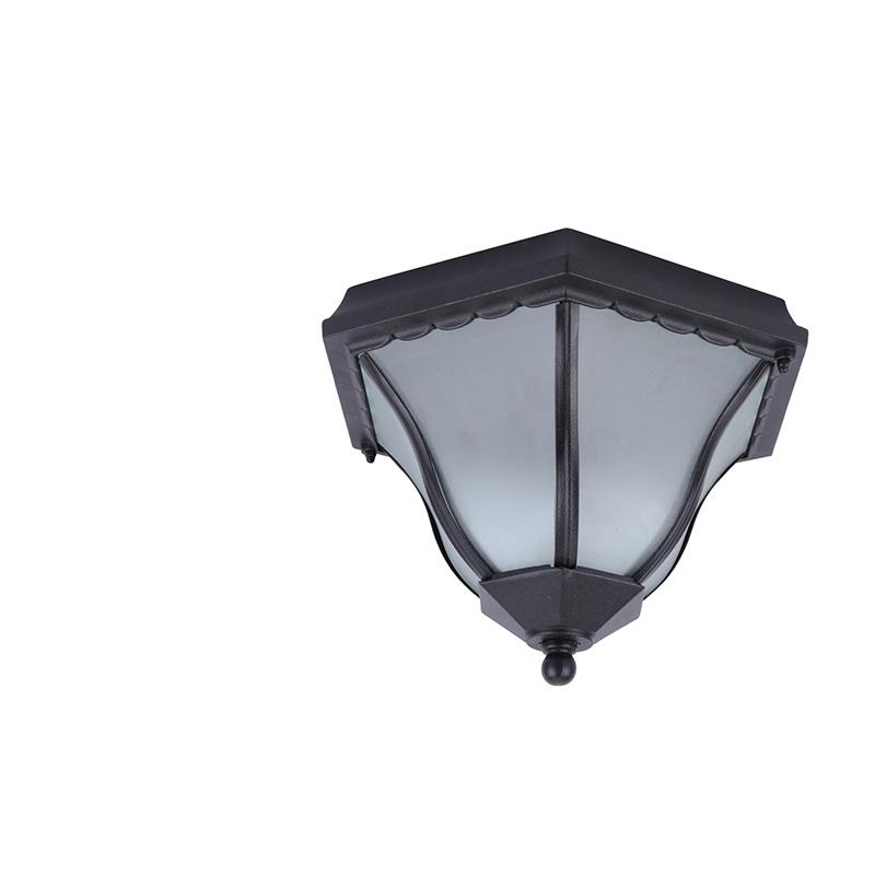 Arte Lamp A1826PF-2BK Уличный накладной светильник  PORTICO 2x60W E27 черный IP44