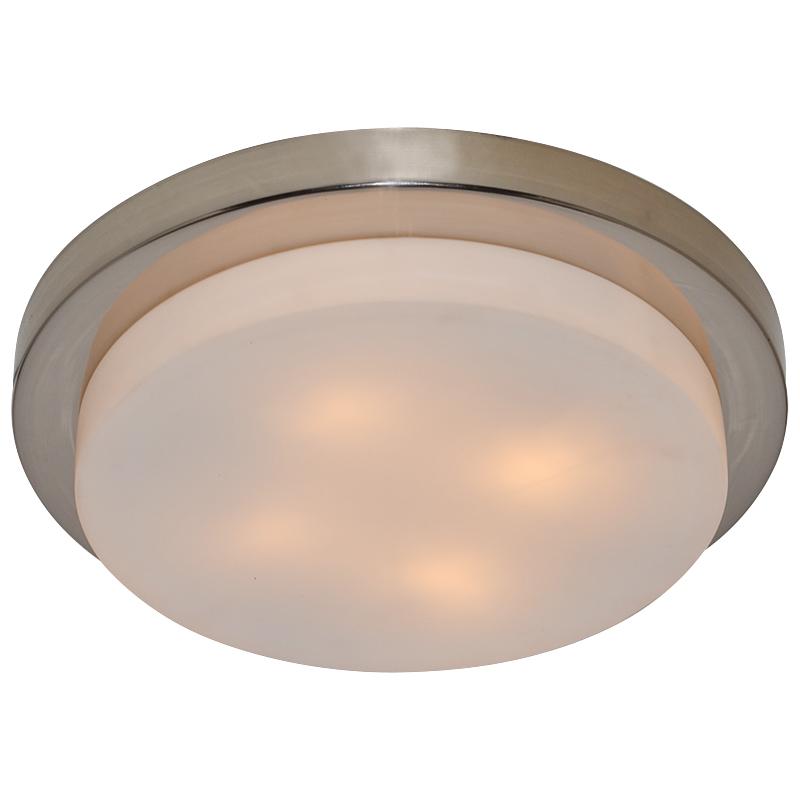 Arte Lamp A8510PL-4SS Настенно-потолочный светильник  AQUA 4x40W E14 матовое серебро IP44