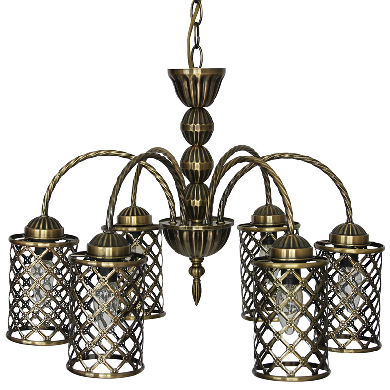 Wunderlicht YL7502AB-6P1 Люстра Bronze Cell 6x60W E14 бронза