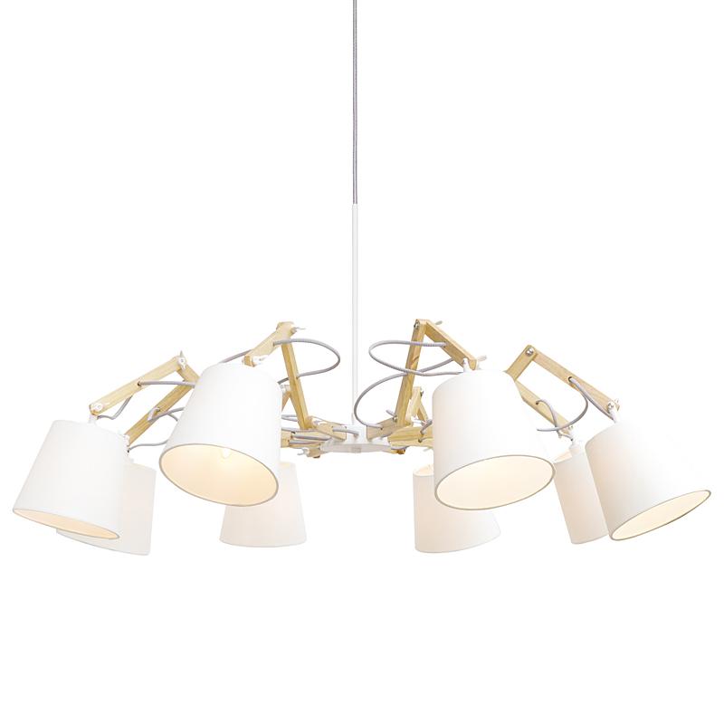Arte Lamp A5700LM-8WH Люстра PINOCCIO 8x40W Е14 белый / белый
