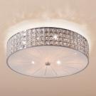 CITILUX CL324181 Потолочный светильник ПОРТАЛ 8x60 E14 Хром/Прозрачный + матовое стекло