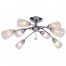 Arte Lamp A6198PL-8CC Люстра потолочная GIULIA 8x60W E14 хром / белый матовый