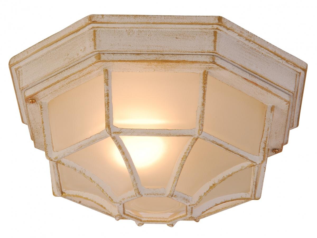 Globo 31210 Уличный настенно-потолочный светильник PERSEUS 1x60W E27 золотисто-белый