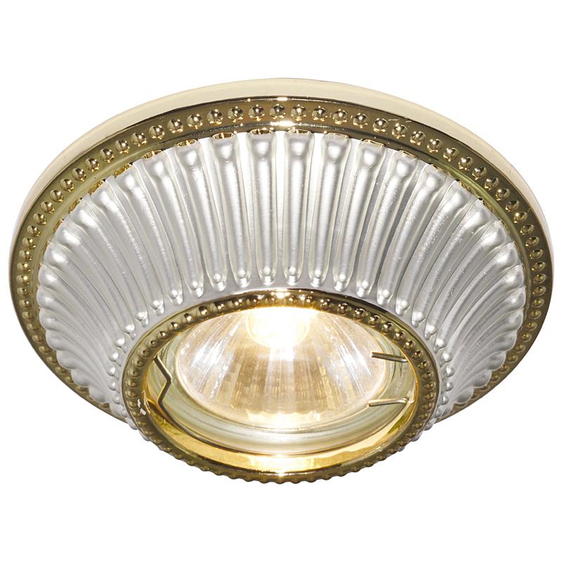 Arte Lamp A5298PL-1WG Встраиваемый светильник неповоротный ARENA 1x50W GU10 / G5,3 бело-золотой