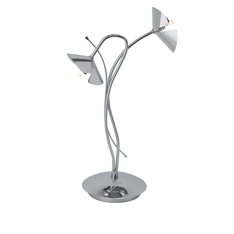 Brilliant G92985/15 Настольная лампа SICILIA 2x20W G4 LED хром