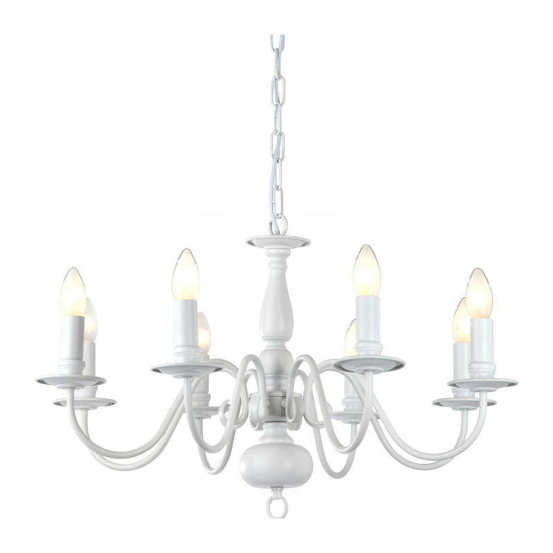 Arte Lamp A1029LM-8WC Люстра  ANTWERP 8x40W E14 WC