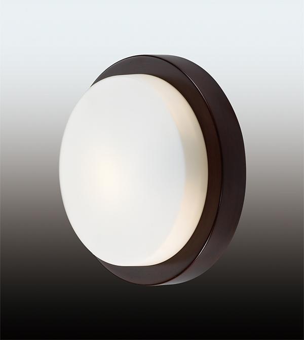 Odeon Light 2744/1C Настенно-потолочный светильник HOLGER 1x40W E14 венге/матовый IP44