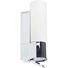 Brilliant 90007B15 Светильник для зеркала MORRIS 1x40W E14 хром/белый IP44