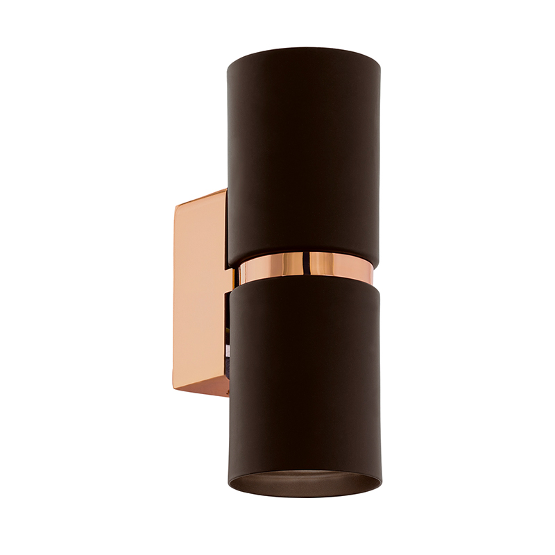 EGLO 95371 Светодиодное бра PASSA, 2х3,3W(GU10), L60, H170, сталь, коричневый, медь
