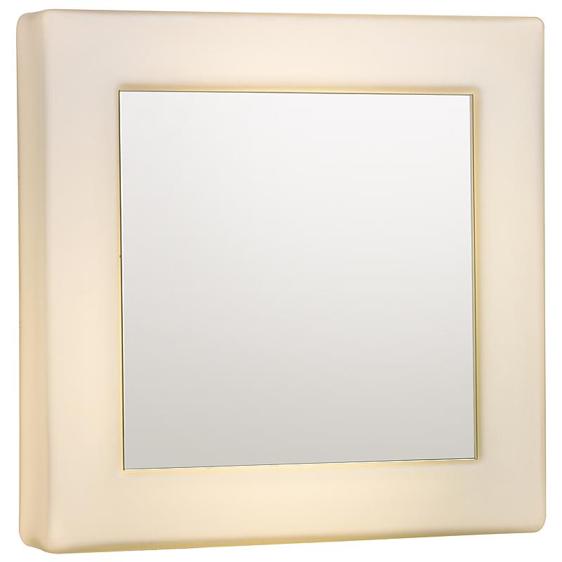 Arte Lamp A2444AP-2WH Зеркало с подсветкой AQUA 2x60W E27 белый / белый