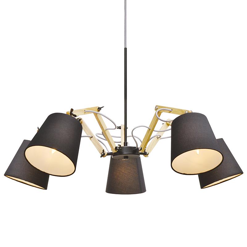 Arte Lamp A5700LM-5BK Люстра PINOCCIO 5x40W Е14 черный / черный