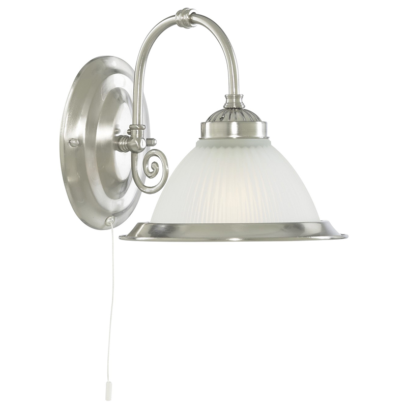 Arte Lamp A9366AP-1SS Бра  AMERICAN DINER 1x60W E27 матовое серебро