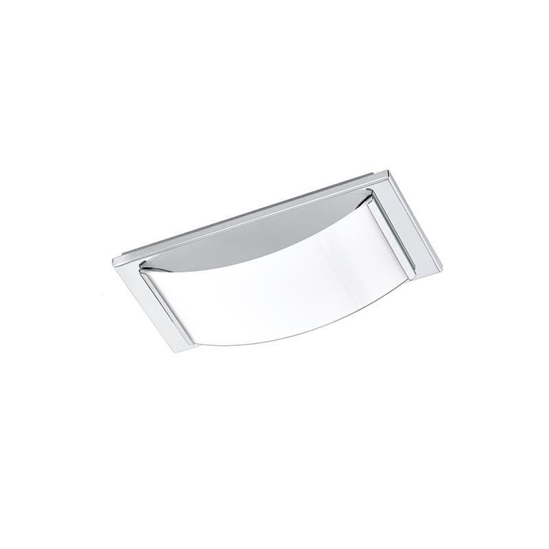 EGLO 94881 Светодиод. наст.-потол. светильник WASAO 1, 1х5,4W (LED), 210х105, IP44, сталь, хром/стекло с покр., белый