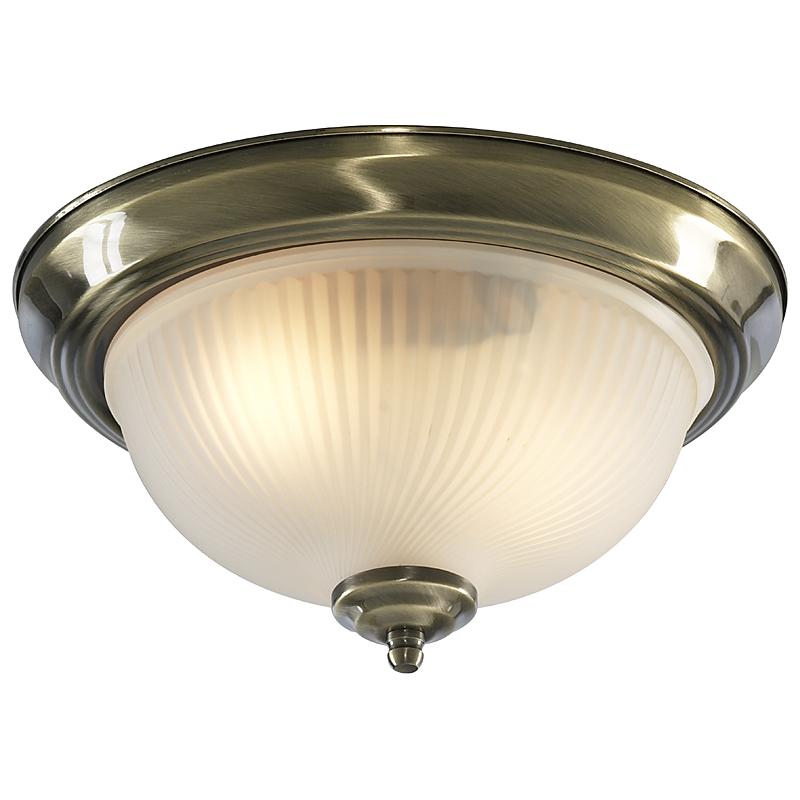 Arte Lamp A9370PL-2AB Настенно-потолочный светильник  AQUA 2x60W E14 античная бронза IP44