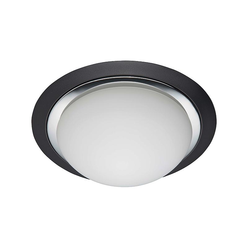 Brilliant 93851/76 Настенно-потолочный светильник MAGNOLIA 2x40W E27 черный/хром/белый, матовый IP44