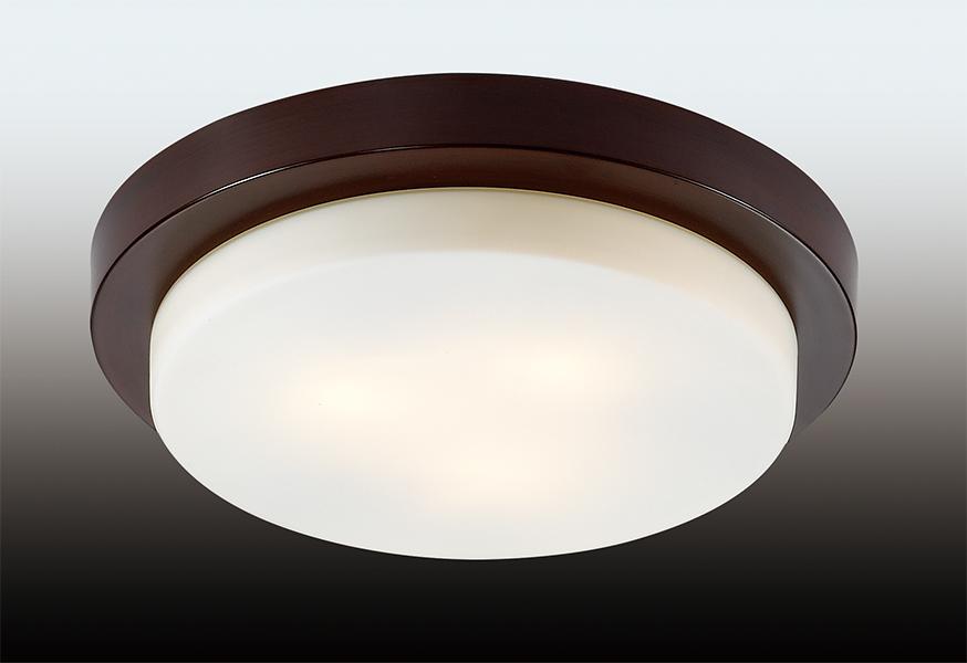 Odeon Light 2744/3C Настенно-потолочный светильник HOLGER 3x40W E14 венге/матовый IP44
