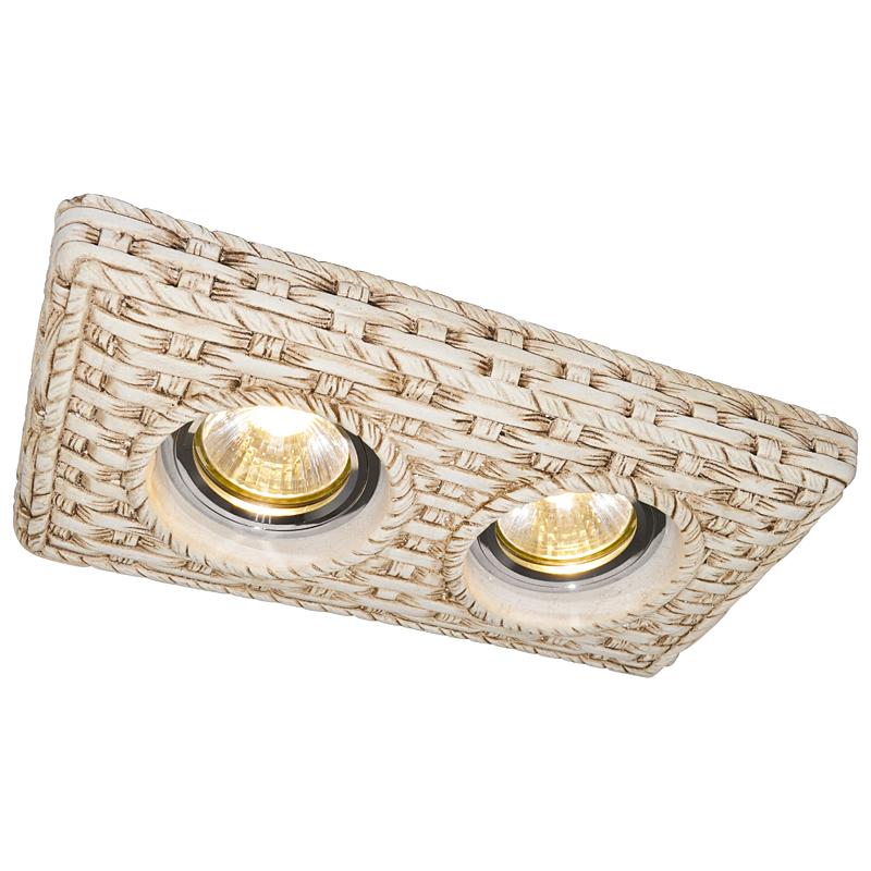 Arte Lamp A5207PL-2WC Встраиваемый светильник неповоротный PEZZI 2x50W GU10 / G5,3 кремовый белый