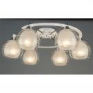 Citilux CL157161 Люстра потолочная Буги 6x75W E27 Белый + хром / Прозрачный + матовый