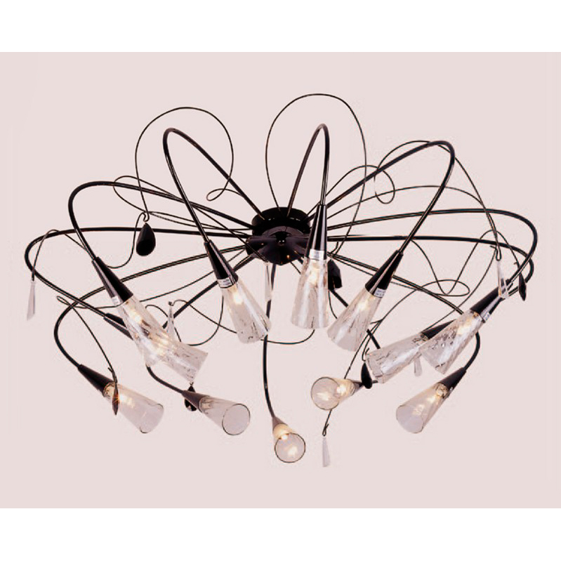 Lightstar 711127 Люстра потолочная AEREO 12x40W G9 черный/прозрачный