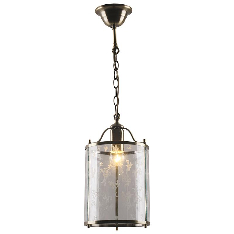 Arte Lamp A8286SP-1AB Подвес BRUNO 1x60W Е27 античная бронза / прозрачный