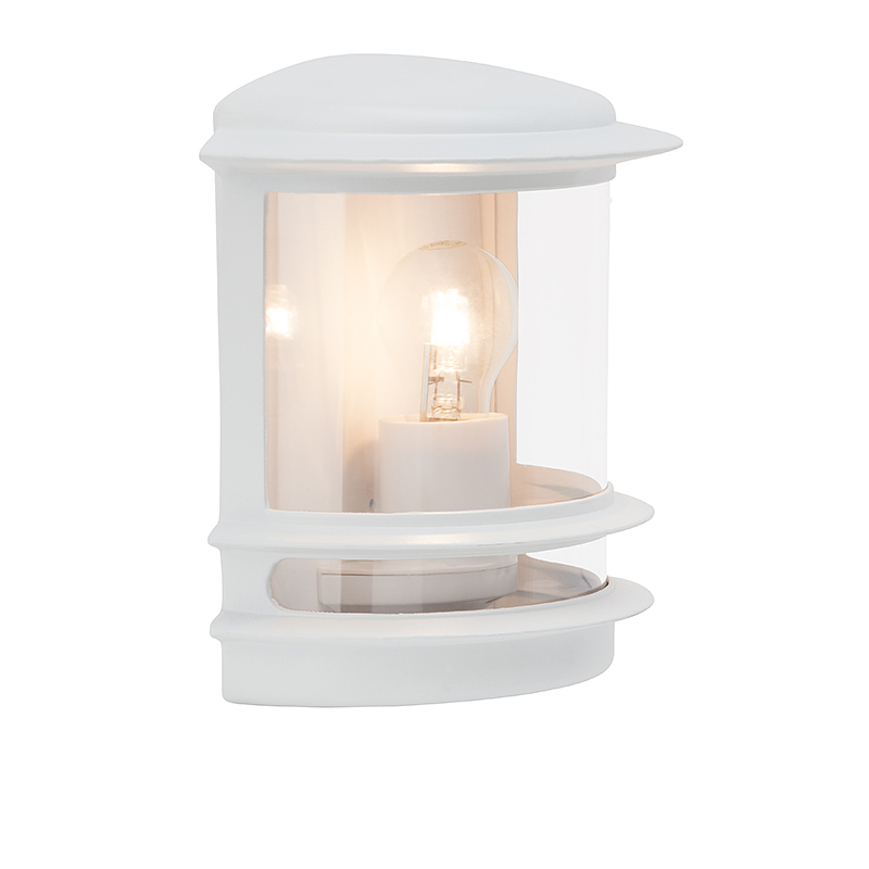 Brilliant 47880/05 Уличный настенный светильник HOLLYWOOD 1x60W E27 белый/прозрачный IP44