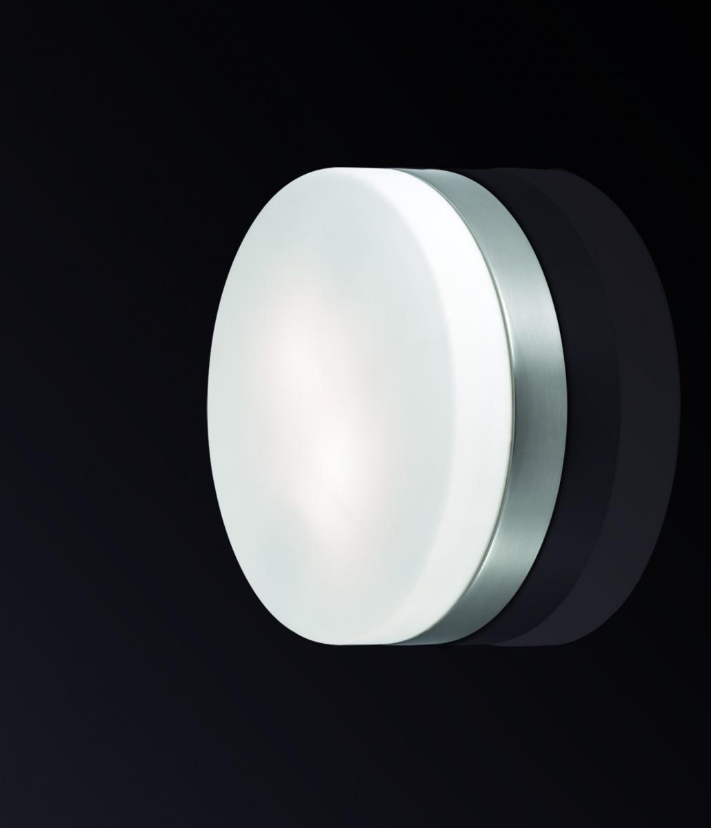 Odeon Light 2405/2C Настенно-потолочный светильник PRESTO 2х40W E14 IP44 никель матовый