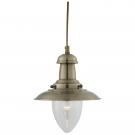 Arte Lamp A5518SP-1AB Подвес  FISHERMAN 1x60W E27 античная бронза
