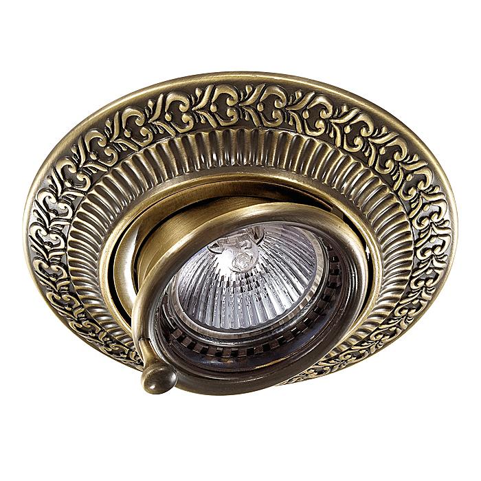 NOVOTECH 370015 Встраиваемый светильник поворотный 1x50W GX5.3 IP20 бронза