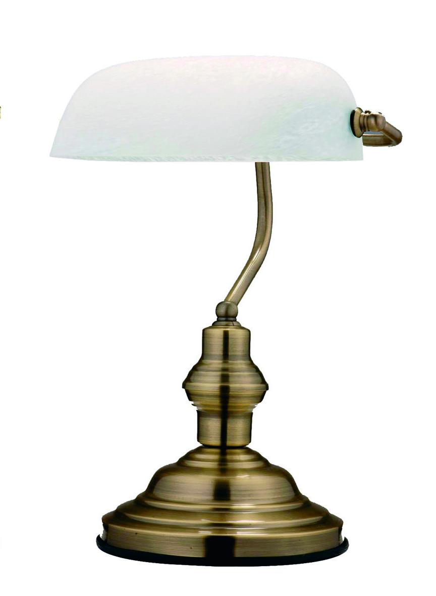 Globo 2492 Настольная лампа ANTIQUE 1x60W E27 никель