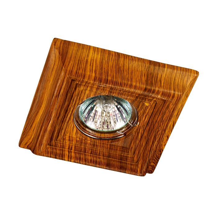 NOVOTECH 370090 Встраиваемый светильник неповоротный 1x50W GX5.3 IP20 светлое дерево