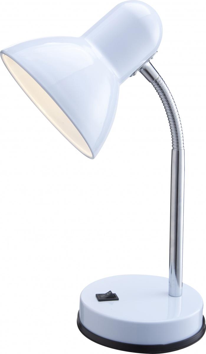 Globo 2485 Настольная лампа BASIC 1x40W E27 белый