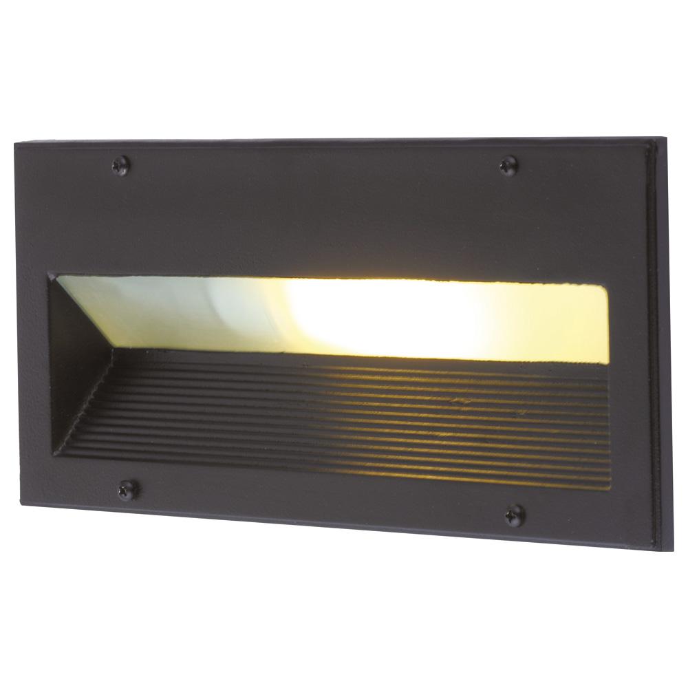 Arte Lamp A5158IN-1BK уличный встраиваемый светильник BRICK 1x60W E27 черный IP54 для стен и ступеней