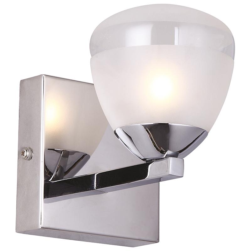 Arte Lamp A9501AP-1CC Светильник для зеркала AQUA 1x33W G9 хром / белый матовый