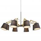 Arte Lamp A5700LM-8BK Люстра PINOCCIO 8x40W Е14 черный / черный