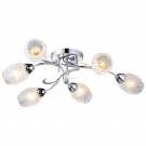Arte Lamp A6055PL-6CC Люстра потолочная DEBORA 6x60W E14 хром / белый матовый