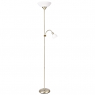 Arte Lamp A9569PN-2AB Торшер DUETTO 2x60+25W Е27 + Е14 античная бронза