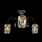CITILUX CL330133 Люстра потолочная СИНДИ 3x60W E14 коричневый / прозрачный
