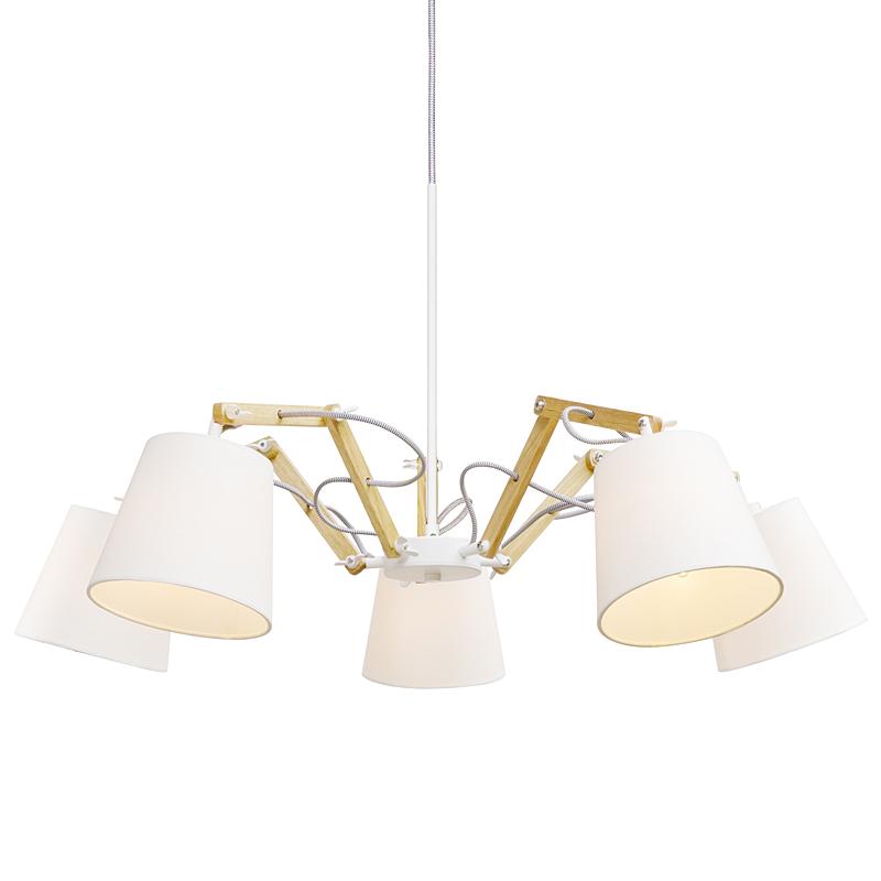 Arte Lamp A5700LM-5WH Люстра PINOCCIO 5x40W Е14 белый / белый