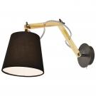 Arte Lamp A5700AP-1BK Бра PINOCCIO 1x40W Е14 черный / черный