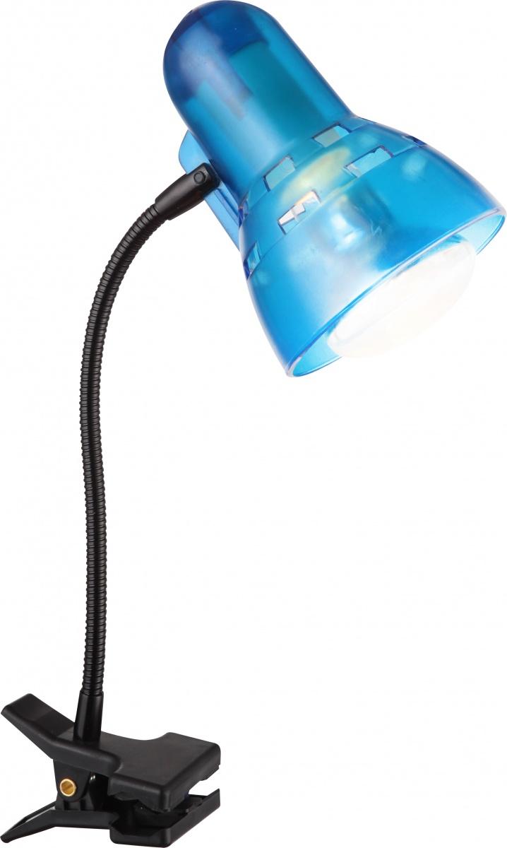 Globo 54851 Настольная лампа CLIP 1x40W E27 синий
