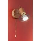 Eglo 85173 Подсветка TORONTO 1x40 Е14 Светлое дерево, никель матовый