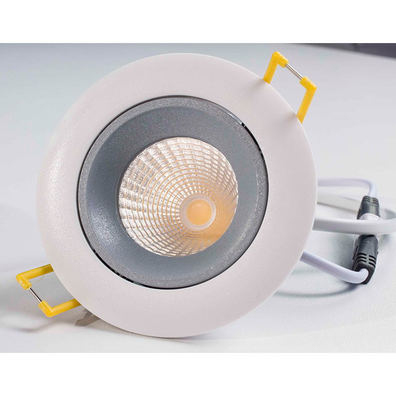 CITILUX CLD001W3 Встраиваемый светильник АЛЬФА 7x1W LED Белый + серый