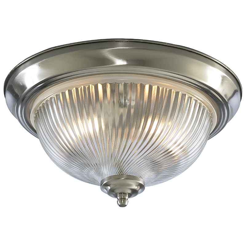 Arte Lamp A9370PL-2SS Настенно-потолочный светильник  AQUA 2x60W E14 матовое серебро IP44