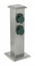 90748 Уличный блок штекерных розеток PARK 4 нержавеющая сталь SOLAR EGLO