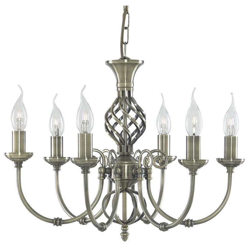 Arte Lamp A8392LM-6AB Люстра  ZANZIBAR 6x60W E14 античная бронза