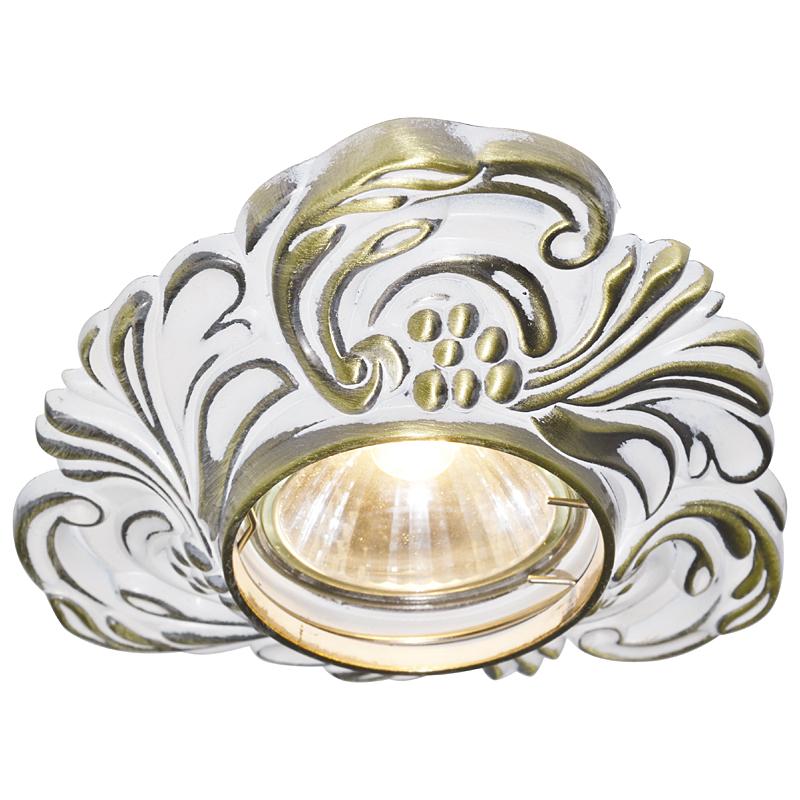 Arte Lamp A5285PL-1WG Встраиваемый светильник неповоротный OCCHIO 1x50W GU10 / G5,3 бело-золотой
