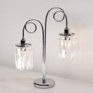 CITILUX CL330821 Настольная лампа СИНДИ 2x60W E14 хром / прозрачный
